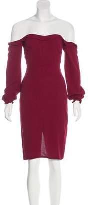 Reformation Off-The-Shoulder Mini Dress