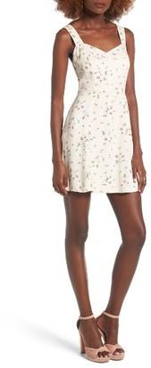 Women's Wayf Hannah A-Line Minidress $65 thestylecure.com