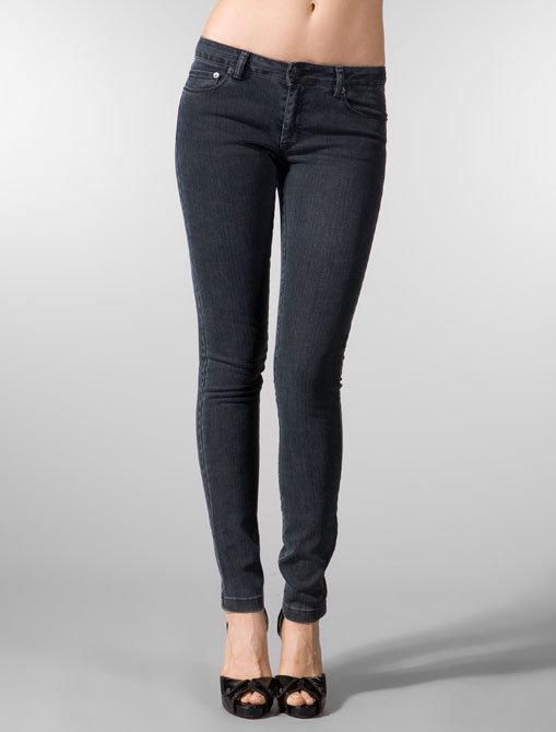 Denim & Thread Jean Jeanie Mid Rise Skinny Zipped