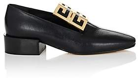 Givenchy Women's Logo-Embellished Leather Loafers - Black