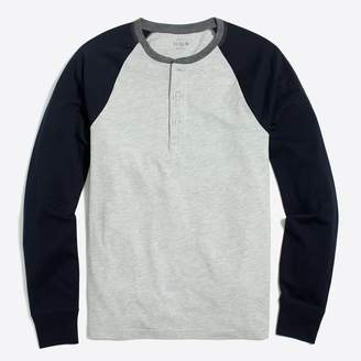 J.Crew Factory Long-sleeve baseball henley