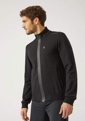 Emporio Armani Ea7 Full-Zip Stretch Fabric Sweatshirt