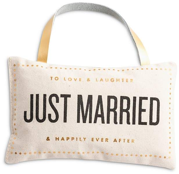 Just Married Door Pillow