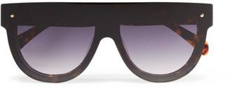 GANNI - Evie D-frame Tortoiseshell Acetate Sunglasses $195 thestylecure.com