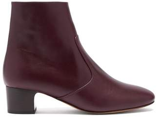 A.P.C. Joey Leather Ankle Boots - Womens - Burgundy