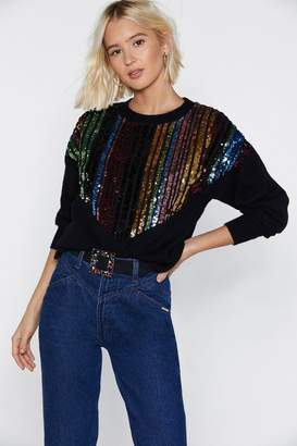 Nasty Gal Knit's the Most Wonderful Time Christmas Sweater