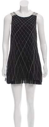 Alice + Olivia Silk Chain-Accented Dress