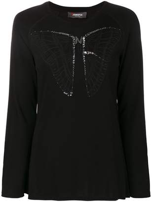Jo No Fui butterfly longsleeved top