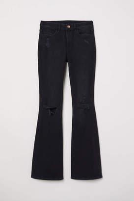 H&M Flare High Jeans - Black denim - Women