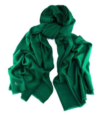 Black Emerald Green Handwoven Cashmere Shawl