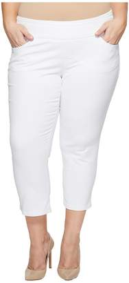 Jag Jeans Plus Size Peri Straight Pull-On Twill Crop Women's Jeans