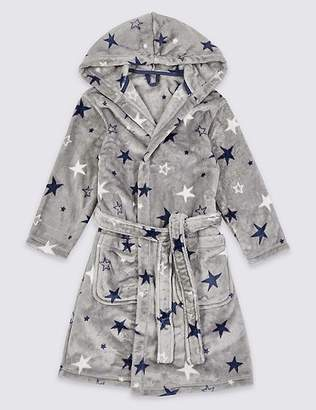 Marks and Spencer Star Print Hooded Dressing Gown (1-16 Years)