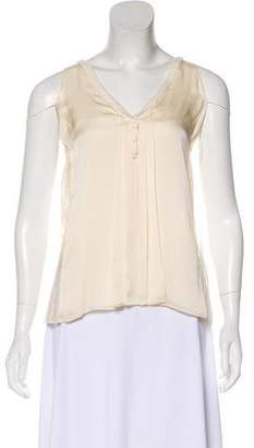 Chloé Silk-Lace Blend Sleeveless Top