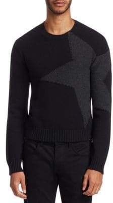 Valentino Cashmere& Wool Intarsia Sweater