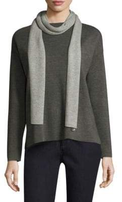 Eileen Fisher Reversible Cashmere and Wool Scarf