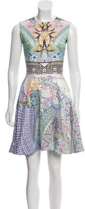 Mary Katrantzou Sleeveless Mini Dress White Sleeveless Mini Dress