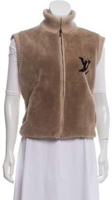 Louis Vuitton Nutria Fur-Paneled Wool Vest