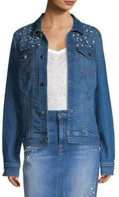 7 For All Mankind Jen7 by Embellished Denim Jacket