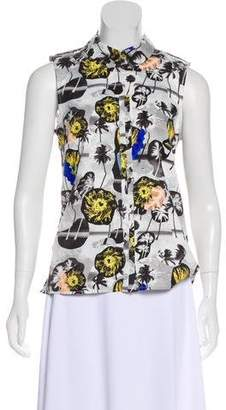 Opening Ceremony Printed Sleeveless Top