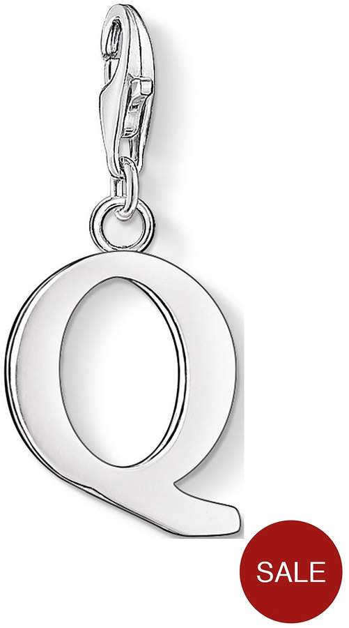 Sterling Silver Charm Club Letter Q Charm
