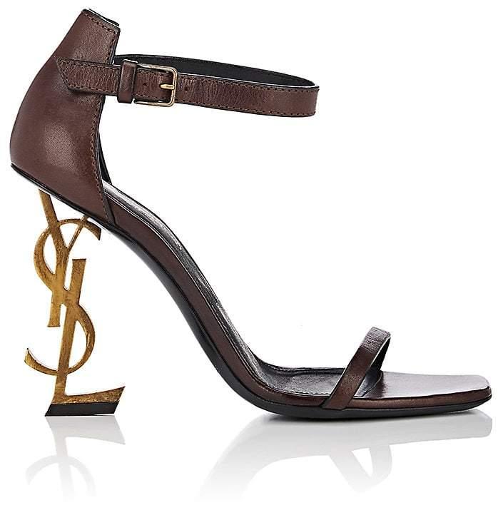 Saint Laurent Women's Opyum Leather Sandals