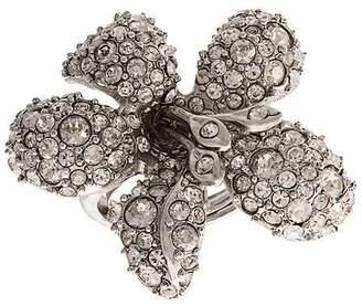 Oscar de la Renta embellished flower ring