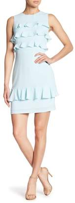 Maggy London Catalina Crepe Tiered Ruffle Dress