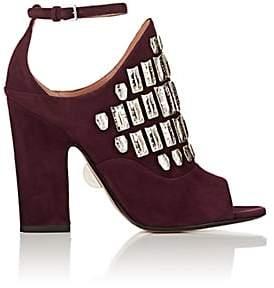 Samuele Failli Women's Maya Suede Halter Sandals-Dk. Purple Size 8