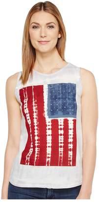 Lucky Brand Tie-Dye Flag Tank Top Women's Sleeveless