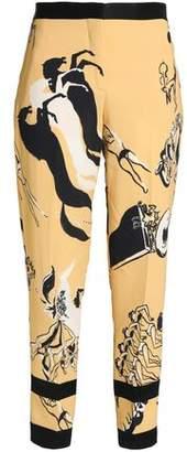 Victoria Victoria Beckham Victoria, Victoria Beckham Printed Crepe Tapered Pants