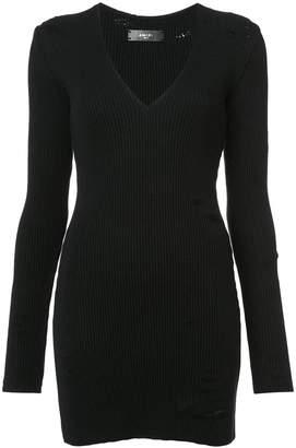 Amiri deep v-neck ribbed dress