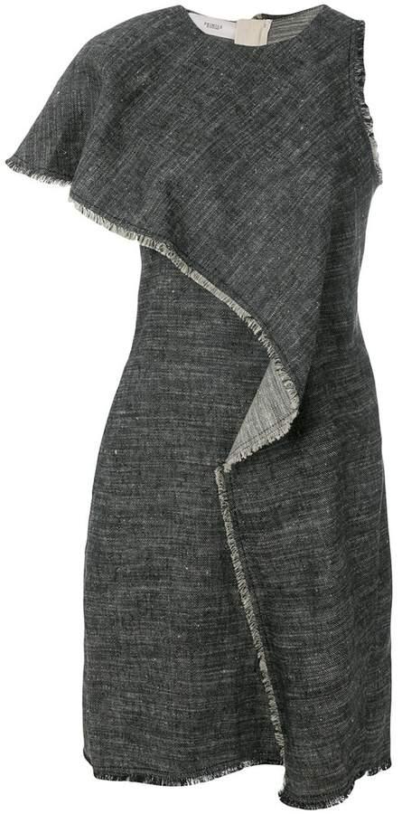 Asymmetric Dress In Black