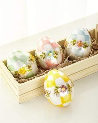 Mackenzie Childs MacKenzie-Childs Pastel Medium Floral Eggs, Set of 4