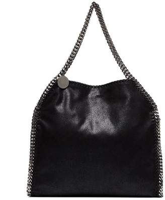 Stella McCartney black Falabella small faux leather shoulder bag