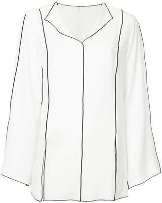 ASTRAET contrast trim blouse