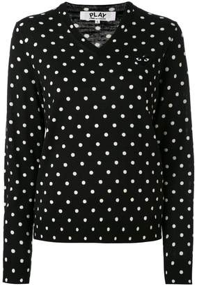 Comme des Garcons polka dot knitted sweater