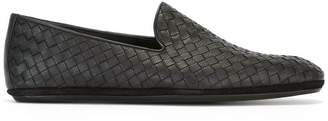 Bottega Veneta nero Intrecciato calf slipper