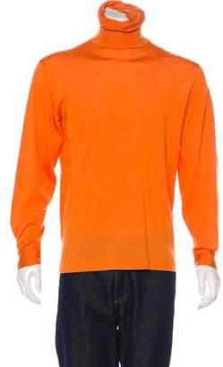 Hermes Cashmere & Silk Turtleneck Sweater