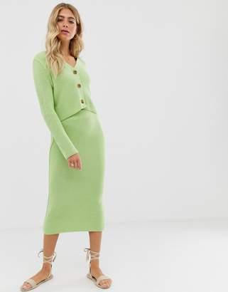 Asos Design DESIGN co-ord chunky midi skirt