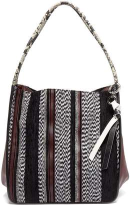 Proenza Schouler Python-effect woven leather tote