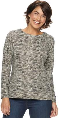 Croft & Barrow Petite Extra-Soft Crewneck Sweatshirt