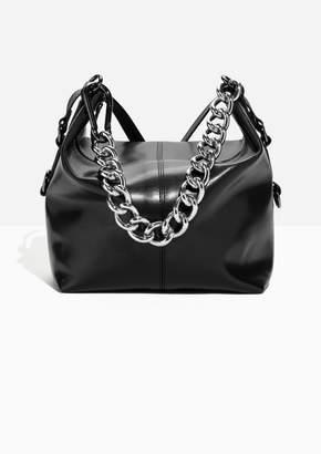 Chunky Chain Leather Duffle