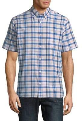 Brooks Brothers Red Fleece Cotton Madras Button-Down Shirt