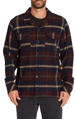 Billabong The Point Plaid Flannel Shirt Jacket
