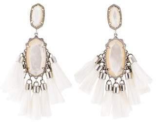 Kendra Scott Mother of Pearl Tassel Drop Earrings