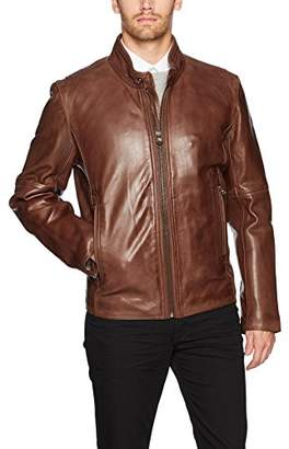 Andrew Marc Men's Emerson Calfskin Leather Jacket