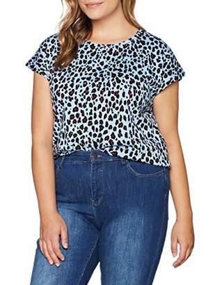 Studio Untold Women's Shirt Mit Leoprint Sweatshirt,X (Size: 54+)