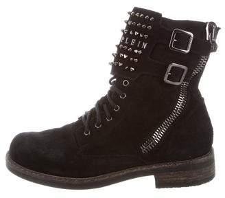 Philipp Plein Studded Suede Boots