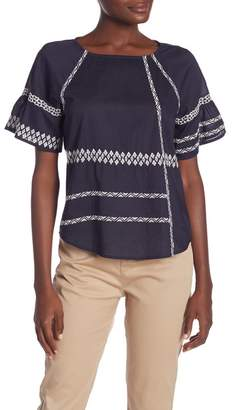 Joie Shoffie Embroidered Blouse