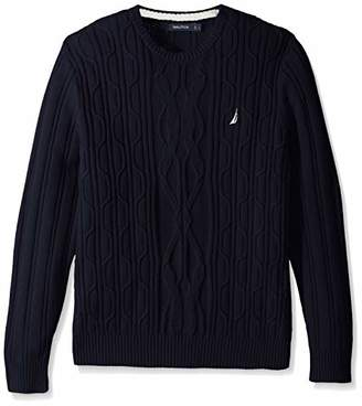 Nautica Men's Crewneck Cable Sweater